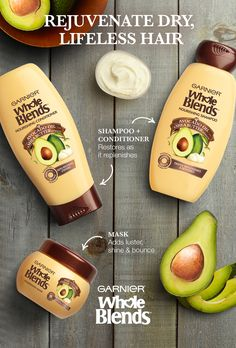 To bring your dried-out hair back to life, don't DIY! Try New Garnier Whole Blends Nourishing Haircare. It's paraben-free and restores your hair as it blooms with the fragrance of Avocado Oil & Shea Butter extracts. The Nourishing Shampoo and Conditioner work to replenish, while the Nourishing Mask deeply moisturizes to add bounce and shine. Explore the full Haircare System and learn all there is to know about restoring your hair's natural beauty.