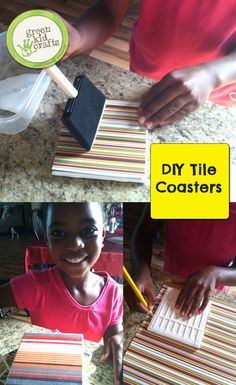 The perfect holiday gift right here –  custom tiles!  http://www.greenkidcrafts.com/tile-coasters/