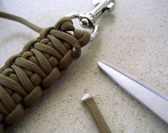 DIY knotted keychain