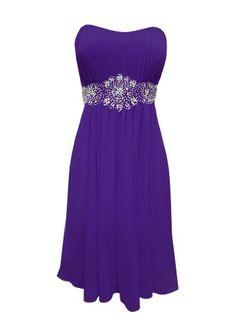 Strapless Chiffon Goddess Short Gown Prom Dress Formal Bridesmaid Junior Plus Size - Purple - XS PacificPlex,http://www.amazon.com/dp/B004Z2VNKK/ref=cm_sw_r_pi_dp_ac27rb065B85S59W
