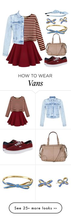 """Bow Tied Up"" by meaganmuffins on Polyvore featuring Miss Selfridge, Vans, Kate Spade, Cara, maurices and longsleevedress"