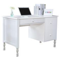 Bassett Solid Wood Desk | Officeworks