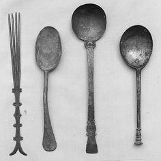 17th century flatware, England, Latten, tinned, 8 3/4 in. long, Metropolitan Museum of Art