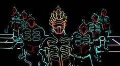 A Japanese dance group - Wrecking Crew Orchestra - have come up with a futuristic, Tron-inspired routine, made possible with high-tech LED outfits featured in an ad for telecom company Docomo. Very cool.