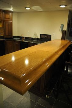 Finished and installed penny bar top | Home Improvements...in ...