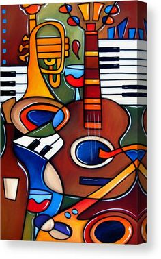 Jam Session by Fidostudio Canvas Print by Tom Fedro. All canvas prints are professionally printed, assembled, and shipped within 3 - 4 business days and delivered ready-to-hang on your wall. Choose from multiple print sizes, border colors, and canvas materials. Body Painting, Guitar Painting, Music Painting, Art Music, Drawings Of Black Girls, Thing 1, Canvas Material, Decoration, Canvas Art Prints
