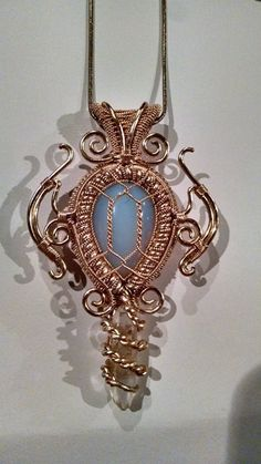 Wire Wrap Pendant  ||  OMG...THIS IS GORGEOUS!!! Must BUY, MAKE, FIND, SOMETHING! ♥A