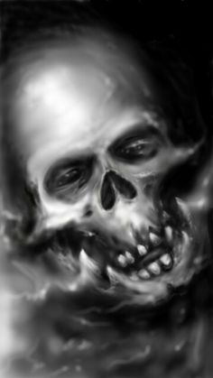 Digital drawing with Samsung Galaxy Note 4. Demon skull