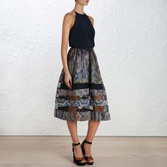 5c14e71a3602b1 Esplanade Spiral Midi Waist Skirt, High Waisted Skirt, Midi Skirt, Skirts,  How