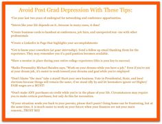 Career Conversations: Avoid Post Grad Depression: Think Two Steps Ahead