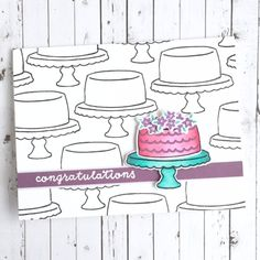 Card by Diane Jaquay. Reverse Confetti stamp sets: Candles 'n Confetti and Celebrations. Confetti Cuts: Candles 'n Confetti. Wedding card. Congratulations card. Celebration card.
