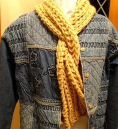 Bulky weight easy scarf Knitting Pattern  Knit Scarf Pattern with by KimberleesKorner, $2.95