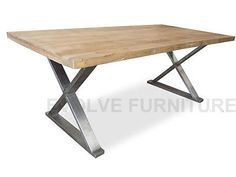 Condor Reclaimed Elm Wood Timber Dining Table - Rustic Natural 2.4m (DT551)
