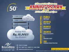 #Domain #hosting #registration #anniversary #discounts #Pakistan #unlimited #website