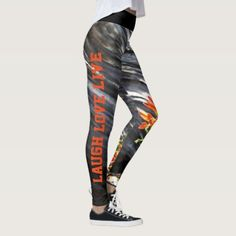 Indian Paintbrush Floral Laugh Love Live Leggings back to school kids, first day of school ideas, schools first day of school #backtoschoolcolor #backtoschoolxHuawei #backtoschooloutfits, dried orange slices, yule decorations, scandinavian christmas Cute Leggings, Best Leggings, Printed Leggings, Ladies Leggings, Leggings Fashion, Fashion Pants, Workout Leggings, Workout Pants, Indian Paintbrush