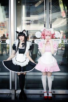 Maid lolita: apprécié des cosplayers (personnes déguisés en personnages de mangas ou jeux vidéos) mais boudé par les lolitas consiste à se vêtir comme une soubrette ( robe, tablier et coiffe)