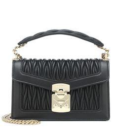 db54cba09c6a Matelassé leather shoulder bag. Matelassé Leather Shoulder Bag - Miu ...