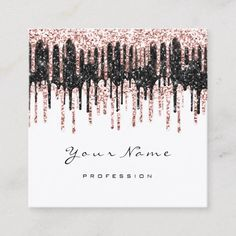 Makeup Artist Wax Browns Glitter Instag FB Logo Square Business Card Custom #Square #Businesscard Designs Business #cards for you to fully customize