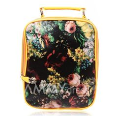 $12.77 Vintage Style Women's Satchel With Splice and Oil Painting Design