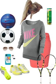 """sporty"" by taralei1997 ❤ liked on Polyvore"
