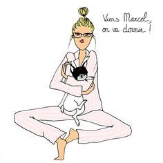 Bonne soirée IG !   #angelinemelin #illustration #sleeping #bouledogue