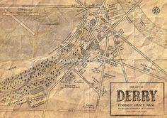 Map of Derry, Maine | Stephen Kings IT von schteffdesign