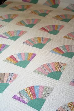 Vintage fan quilt.  Photo by amyleigh, via Flickr.