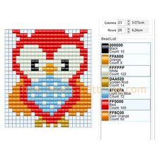 Colored owl bird free perler beads pattern baby toys idea Hama Beads pony beads