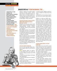 Endüstri 4.0 Yeni Normal ise... Platin Dergisi Temmuz 2017 #UfukTarhan #Tinsan #Futurist