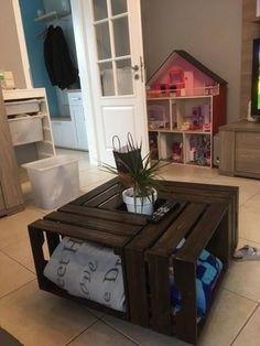 Fabriquer une table basse DIY avec les caisses en bois Knagglig de chez IKEA