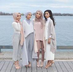pastel neutral hijab looks