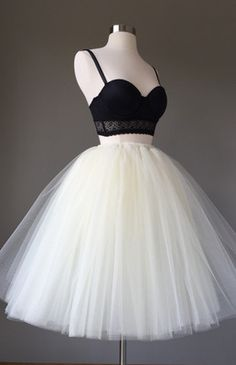 Straps Prom Dresses, Black And White Short Prom Dresses, 2017 Homecoming Dress Sexy Ball Gown Tulle Short Prom Dress Party Dress Long Tutu Skirt, Tulle Mini Skirt, Tulle Skirts, Adult Tulle Skirt, Long Skirts, Straps Prom Dresses, Prom Party Dresses, Homecoming Dresses, Dress Party