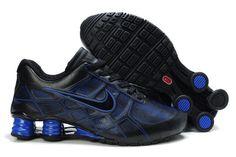 super popular 6f705 4667e Nike Shox Turbo+ 12 Leder Männer Schuhe Schwarz Blau