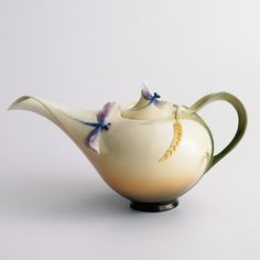 Dragonfly Porcelain Teapot from the Franz Collection