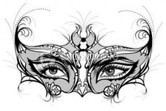 venitian masks drawings | stock illustration description venetian mask with floral decoration