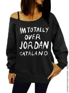 "Use coupon code ""pinterest"" Im Totally Over Jordan Catalano - Black Slouchy Oversized Sweatshirt by DentzDenim"