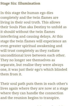 The Stages of Twin Flames