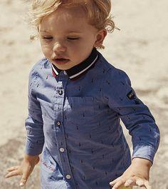 Chemise à motifs IKKS Baby, collection bébé garçon Printemps/Eté 16 #SS16