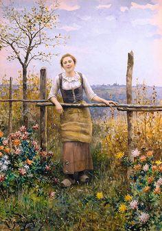 Afternoon Sun, Rolleboise--Daniel Ridgway Knight (1839 – 1924)