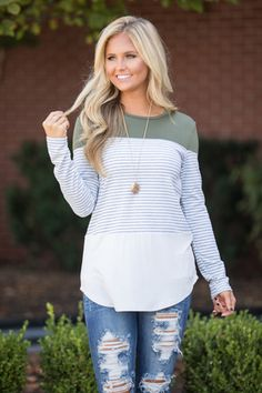 Stand By This Love Blouse Olive