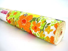 Your place to buy and sell all things handmade Retro Wallpaper, Vinyl Wallpaper, Wallpaper Roll, Retro Flowers, Black N Yellow, Flower Power, I Shop, Sunglasses Case, Craft Projects