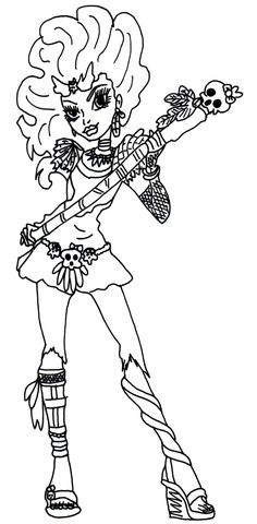 monster high coloring pages jane boolittle - Google Search