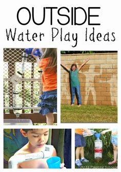 Perfect for hot summer days! Outside Water Play Ideas for Kids from Still Playing School Outside Activities, Water Activities, Summer Activities, Preschool Activities, Outdoor Activities, Kindergarten Themes, Creative Activities, Creative Play, Family Activities