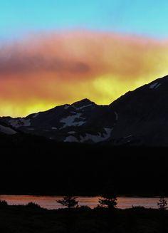 Sunset at Brainard Lake, amazing sky!