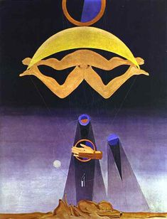 Max Ernst.   Of This Men Shall Know Nothing.   Oil on canvas.   81 x 64 cm.   1923.   Tate Gallery, London, UK.