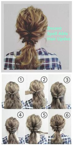 Decent & Spell Able Hair Updos on We Heart It - Hair Styles Curly Hair Braids, Thick Curly Hair, Prom Hair Updo, Curly Hair Tips, Curly Hair Styles, Work Hairstyles, Braided Hairstyles, Hairdos, Curly Hair Tutorial