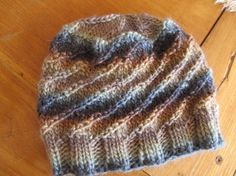 Earthtones Handknit Wool Hat for Child Teen or by SusanDeanne