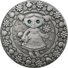 Zodiac Coins Virgo - Belarus 20 Rubles Silver Coin, Swarovski elements.