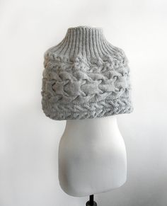 Dove grey hand knitted shrug-  Gift Ideas. Set of shrug and hat, knitted by hand.Capelete and hat in light grey by Benivision on Etsy https://www.etsy.com/listing/168643023/dove-grey-hand-knitted-shrug-gift-ideas