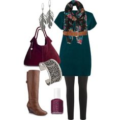 """""""Teal Tunic - Plus Size"""" by alexawebb on Polyvore"""